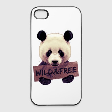 Wild and free Panda bear - Coque rigide iPhone 4/4s
