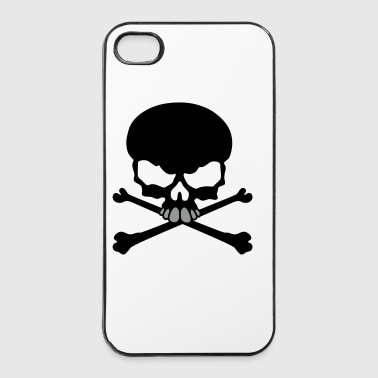 Tete de mort pirate tribal - Coque rigide iPhone 4/4s