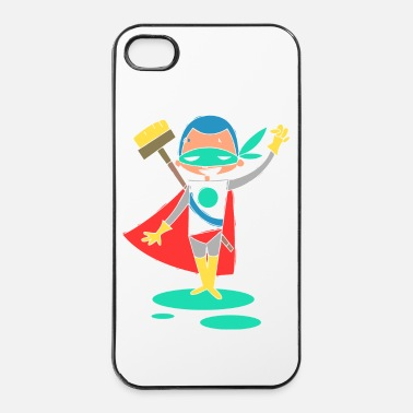 Fantaisie super Heros kawaii 2 - Coque rigide iPhone 4/4s