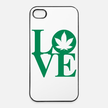 Herbe Cannabis Love Art - Coque rigide iPhone 4/4s