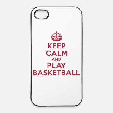 Panier Keep calm play Basketball - Coque rigide iPhone 4/4s