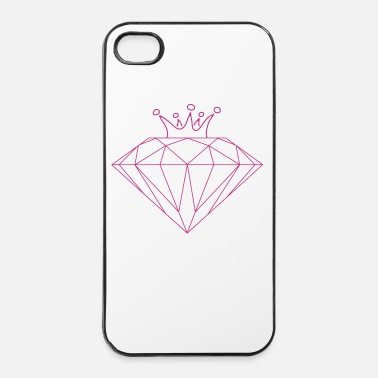 Brillante diamond_crown_dc4 - Custodia rigida per iPhone 4/4s