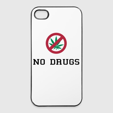 No Drugs / Say no to drugs / Cannabis / Drogen - iPhone 4/4s Hard Case