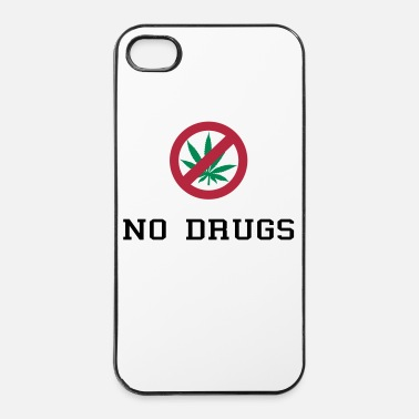 Cannabis No Drugs / Say no to drugs / Cannabis / Drogen - Custodia rigida per iPhone 4/4s