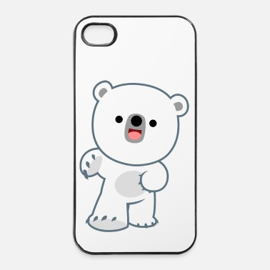 Rire Petit Ours Polaire Rieur par Cheerful Madness!! - Coque rigide iPhone 4/4s