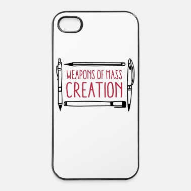 Armes Weapons of mass creation designer (1c or 2c) - Coque rigide iPhone 4/4s