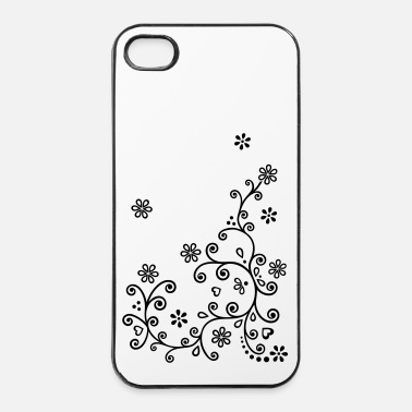 Ornament Summer blomstring vin. Mehndi floral blomster - iPhone 4 & 4s cover