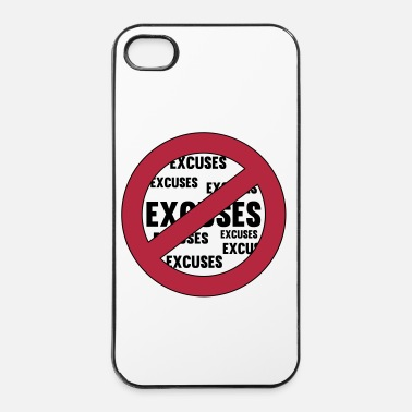 Lema No Excuses - Carcasa iPhone 4/4s