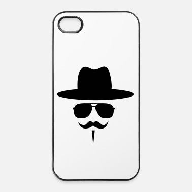 Anonymous Moustache - Coque rigide iPhone 4/4s