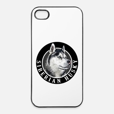 Siberian Husky Dog 002 - iPhone 4/4s Hard Case