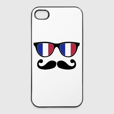 french mustache glasses nerd - like a sir - iPhone 4/4s hard case
