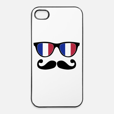 Sir french mustache glasses nerd - like a sir - Hårt iPhone 4/4s-skal