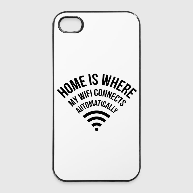 WIFI home is where my wifi connects automatically - iPhone 4/4s Hard Case