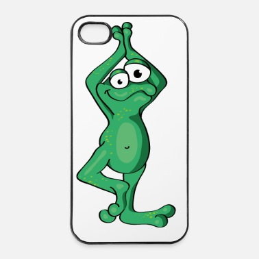 Om The Yoga Frog exercises the tree - Custodia rigida per iPhone 4/4s