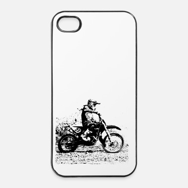 Moto motocross - Custodia rigida per iPhone 4/4s