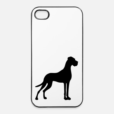 Doggensilhouette mit Rute - iPhone 4/4s Hard Case