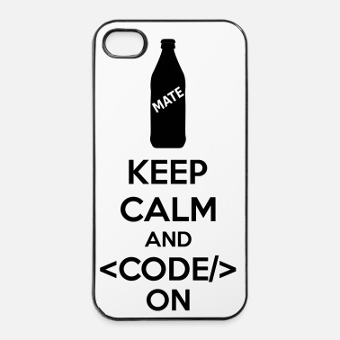 Keep Calm Keep Calm And Code On - iPhone 4/4s kovakotelo