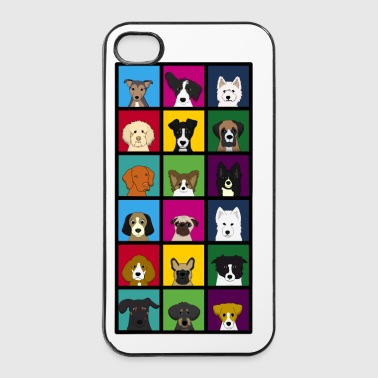 18 x honden hoofd colourful - iPhone 4/4s hard case