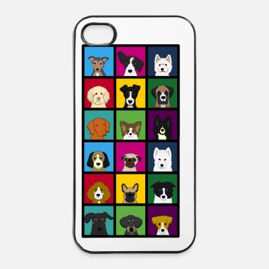 Pixel 18 x dogs head colourful - iPhone 4 & 4s Case