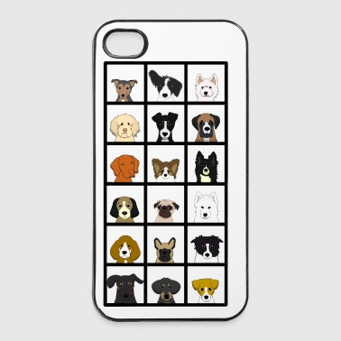 Hund 18 x hunder hode - iPhone 4/4s hard case