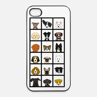 Pixel 18 x dogs head - iPhone 4 & 4s Case