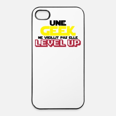 Je Suis Une Maman Qui Déchire citations geek et gamer(level up)modèle femme - Coque rigide iPhone 4/4s