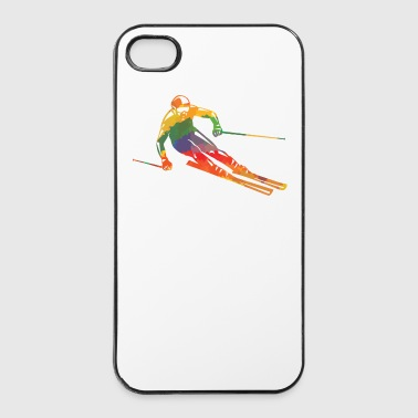 Farbiger Skifahrer - iPhone 4/4s Hard Case