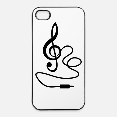 Jazz instant Music * Treble Clef cavo RCA - Custodia rigida per iPhone 4/4s