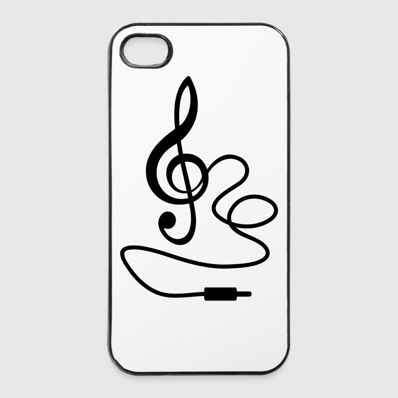 electronic music clef iphone 44s hard case
