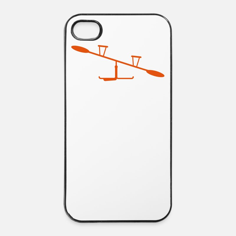 Funny iPhone Cases - playground outdoor toy seesaw see saw - iPhone 4 & 4s Case white/black