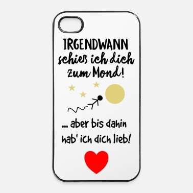 Paare Hab dich lieb Liebe Spruch - iPhone 4 & 4s Hülle