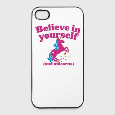 Believe in yourself (and UNICORNS) plain - iPhone 4/4s Hard Case