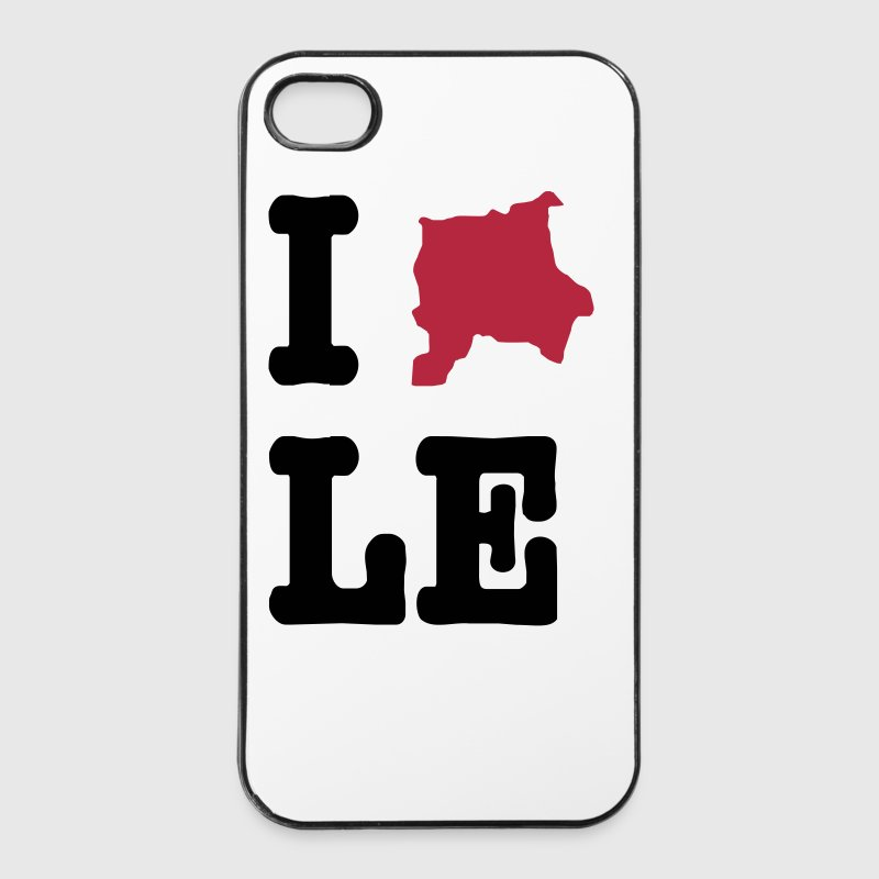 I Love Leipzig (I heart LE) - City Outlines - iPhone 4/4s Hard Case