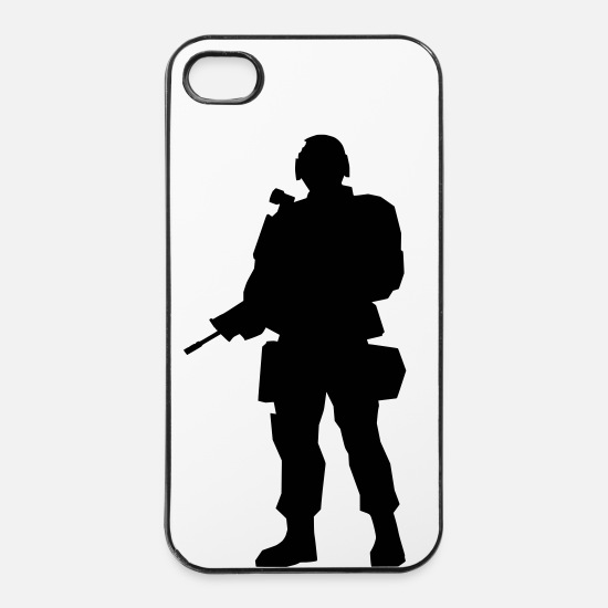 Army Coques iPhone - soldat - Coque iPhone 4 & 4s blanc/noir