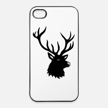 Cornes cerf ramure bois corne cornes animal sauvage  - Coque rigide iPhone 4/4s