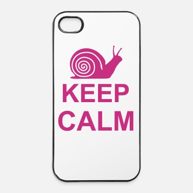Keep Calm keep calm snail kg10 - Custodia rigida per iPhone 4/4s