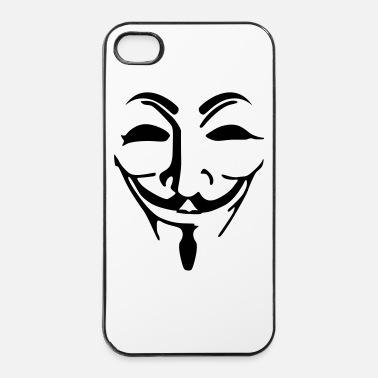 Maschera Anonymous maschera - Custodia rigida per iPhone 4/4s