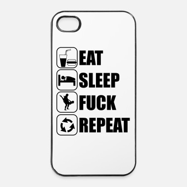 Swag Eat, sleep, fuck, repeat - Coque rigide iPhone 4/4s