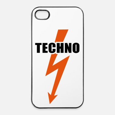 Hardstyle Techno musica Flash Basso Batteria Beats Hardstyle - Custodia rigida per iPhone 4/4s