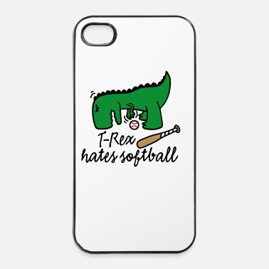 Softball T-Rex hates softball Dinosaurier Softballspieler - iPhone 4 & 4s Hülle