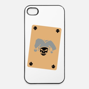 Poker tete de mort cartes joker 3 - Coque rigide iPhone 4/4s