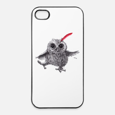 Oostenrijk Chief Red - Happy Owl - iPhone 4/4s hard case