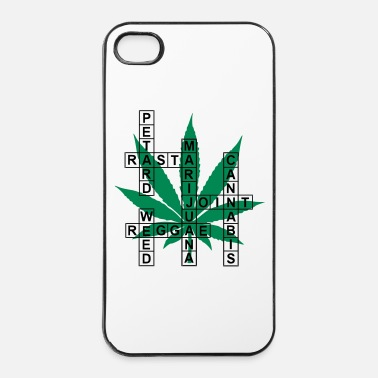 Cannabis mot croisé cannabis - Coque rigide iPhone 4/4s