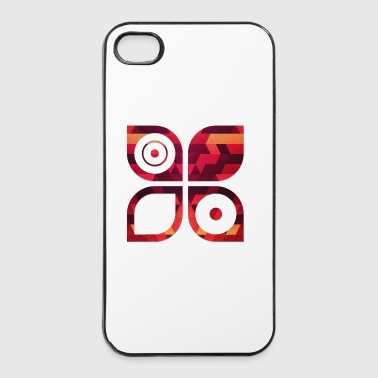 Abstract minimal geometry Hipster Art (Red Gold) - Carcasa iPhone 4/4s
