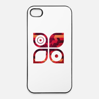 Rectangle Abstract minimal geometry Hipster Art (Red Gold) - Coque rigide iPhone 4/4s