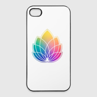 Bunte Abstrakte Yoga Geometrie Blüte / Blume - iPhone 4/4s Hard Case