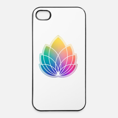 Om Colorful Abstract Yoga Geometry Blossom / Flower - Coque rigide iPhone 4/4s