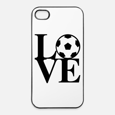 Ballon De Foot Football Love Art - Coque rigide iPhone 4/4s