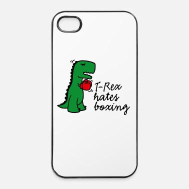 Boxing Gloves T-Rex hates boxing gloves fightclub dinosaur - iPhone 4 & 4s Case