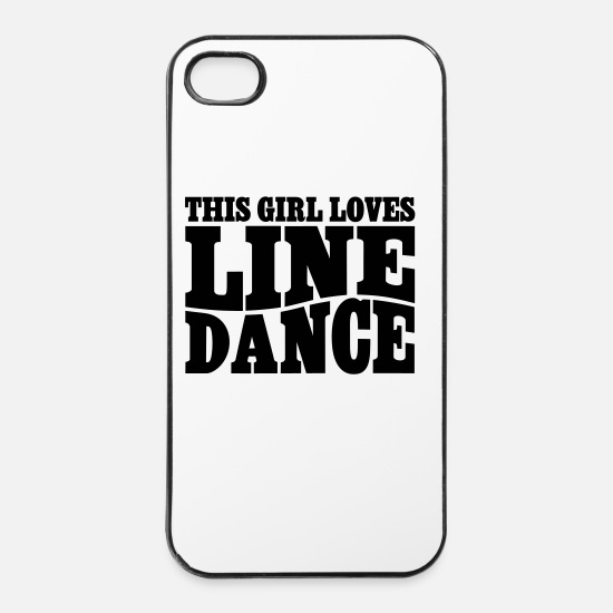 Line Dancing iPhone Cases - LINE DANCE LOVER - iPhone 4 & 4s Case white/black
